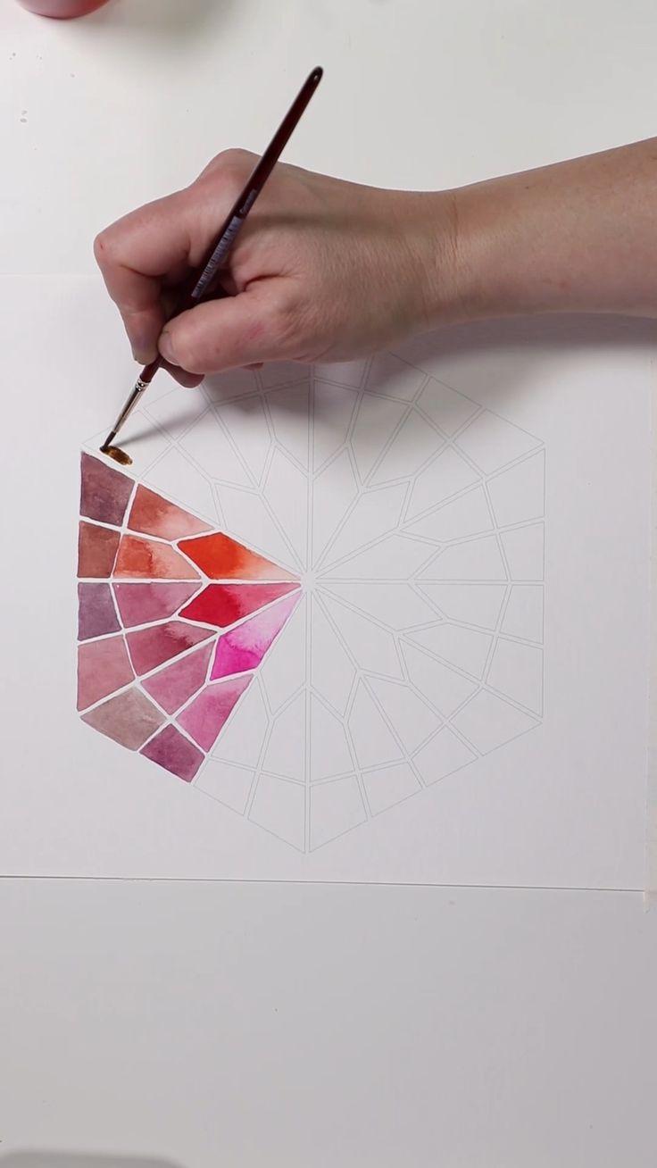 Mesmerizing Rainbow Bright Watercolor Mandalas