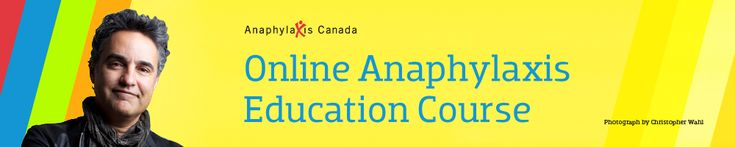 Online education course re food allergies from anaphylaxis Canada