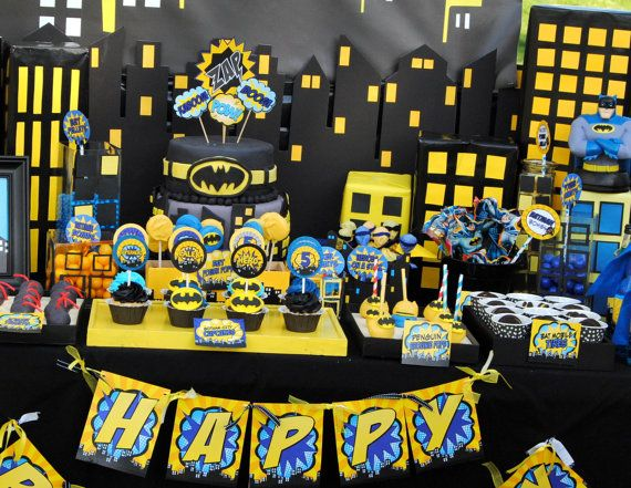 BATMAN Birthday Party COMPLETE Batman By KROWNKREATIONS