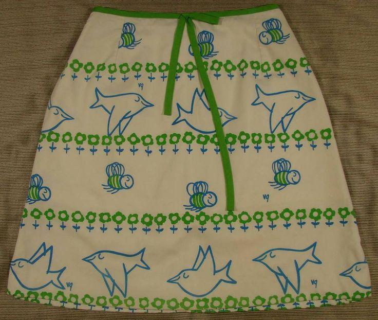 60's 70's Vintage Vested Gentress Birds n Bees Print Golf Skirt Skort