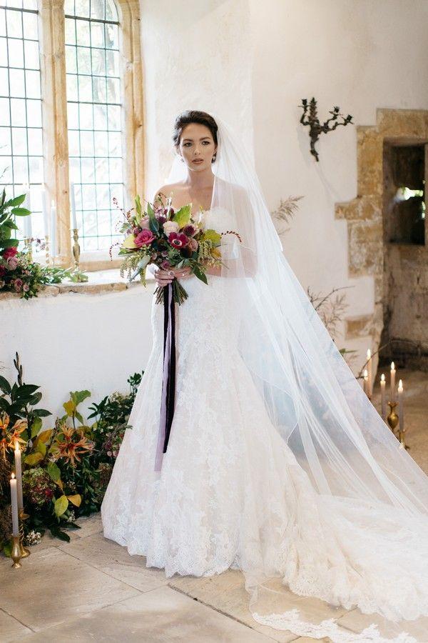 Dramatic Dark Hues Wedding Styling at Brympton House - Bride on ...