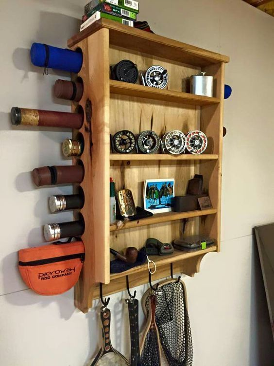17 best ideas about fishing rod rack on pinterest rod for Fishing rod organizer