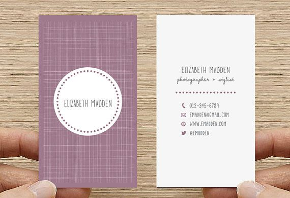 Double sided Business Card, Calling Card, Printable Custom Digital Download DIY…