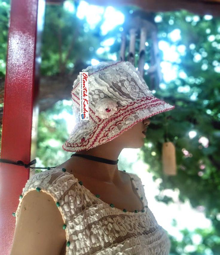 Dantel Krem Rengi Tasarım Şapka | Otantik Kadın, Otantik Giysiler, Elbiseler,Bohem giyim, Etnik Giysiler, Kıyafetler, Pançolar, kışlık Şalvarlar, Şalvarlar,Etekler, Çantalar,şapka,Takılar