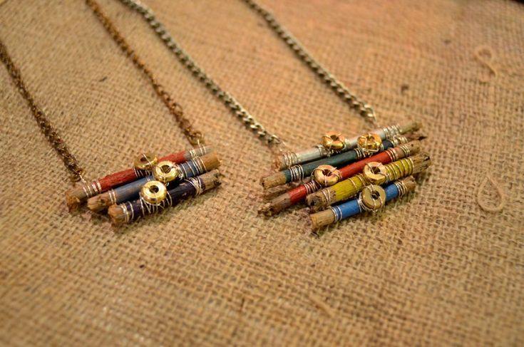 DIY Multi stick necklace. Cute!