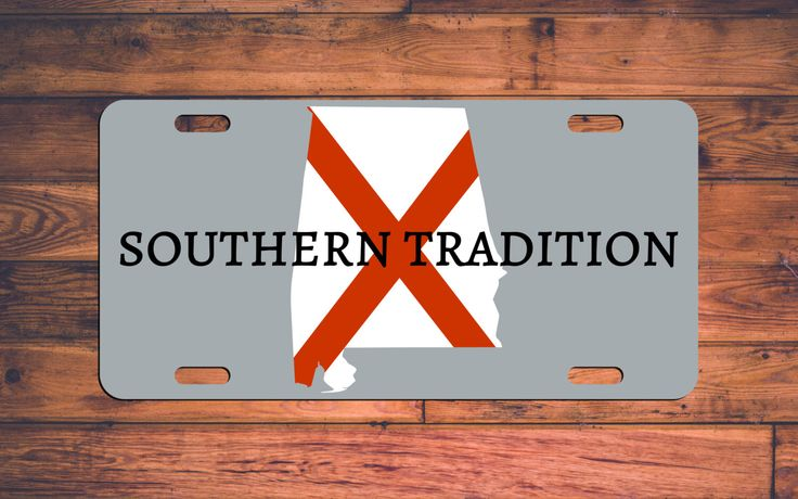 Alabama License Plate Southern Tradition Alabama Car Tag Custom Designed Alabama Flag - Bama custom license plate - Choose your Colors! by TheMonogramStand on Etsy https://www.etsy.com/listing/250852240/alabama-license-plate-southern-tradition