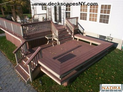Two Level Deck With Seating Make The Steps Wider And