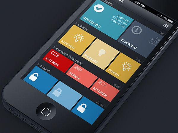 Home automation app on Behance