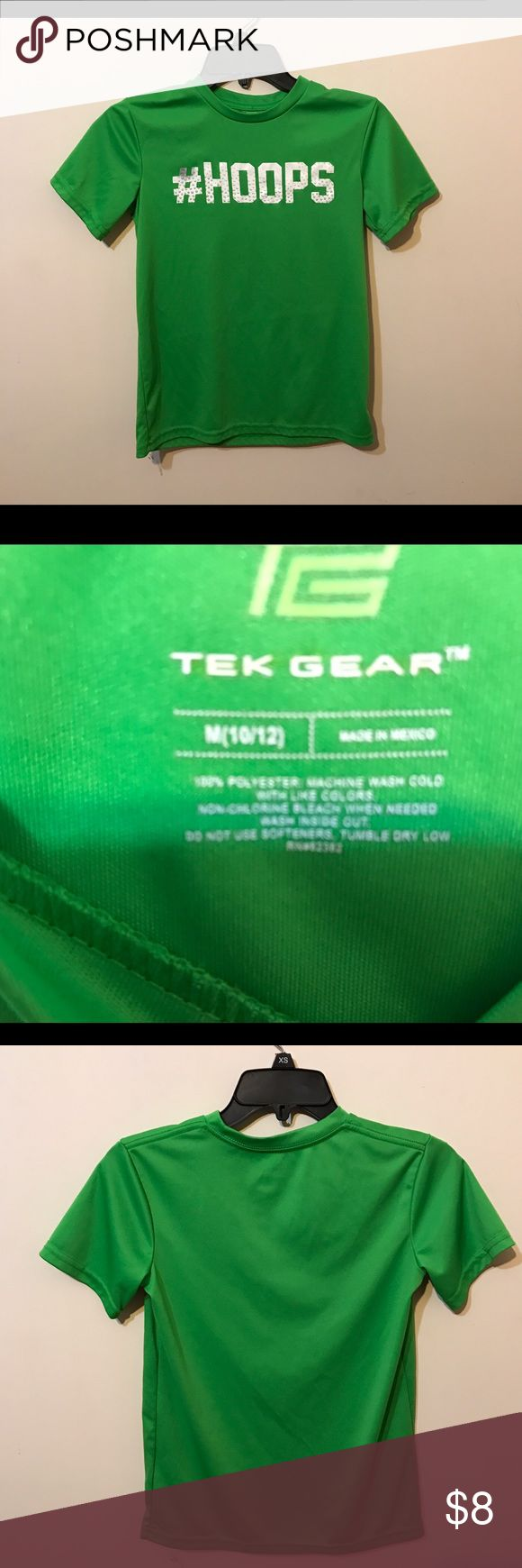 Tek Gear, Boy's Youth....Size M 10/12 Nice lime green shirt in excellent condition. 100% polyester. Tek Gear Shirts & Tops Tees - Short Sleeve