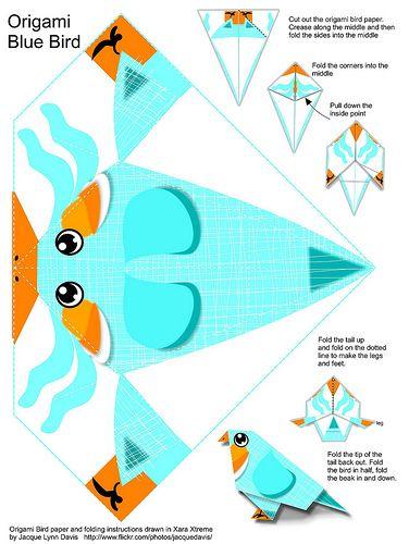 origami pájaro