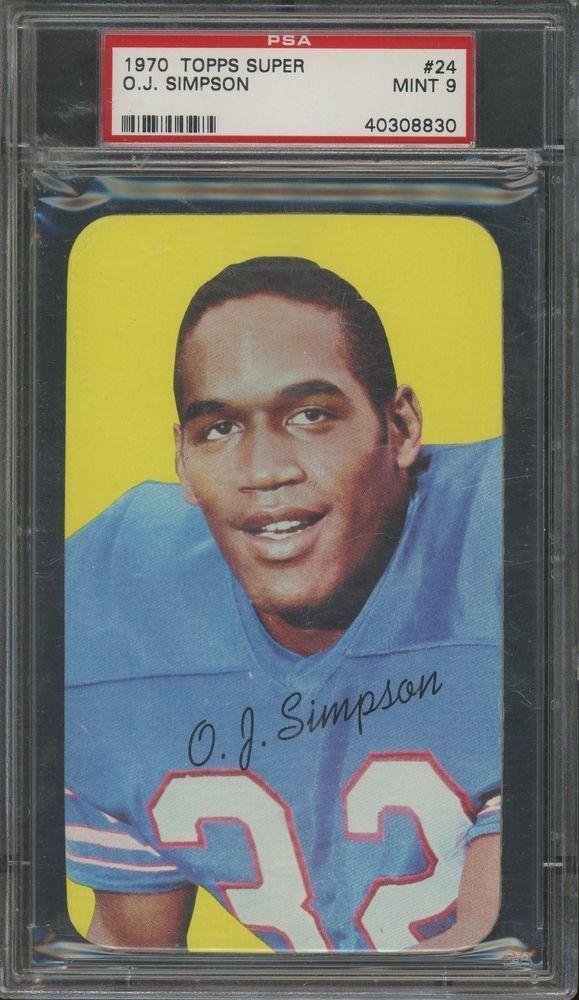 1970 Topps Super Football 24 Oj Simpson Buffalo Bills Rc
