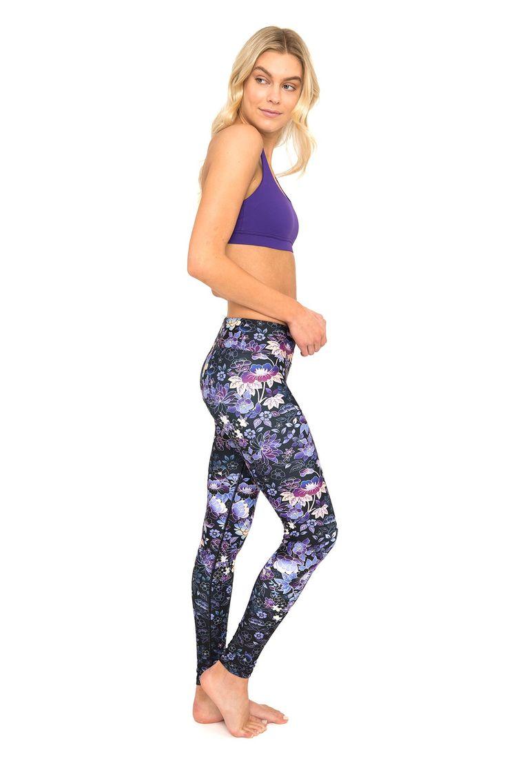 Japanese Garden Standard Waist Printed Yoga Legging - Full Length