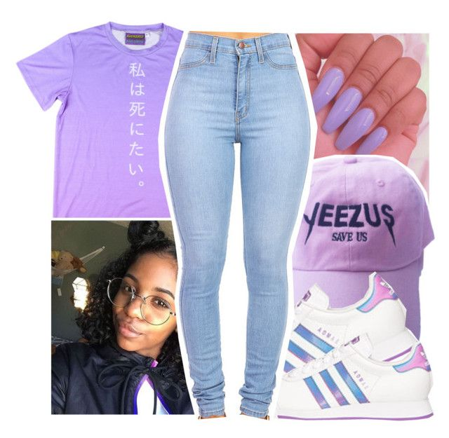 """""""Untitled #343"""" by gabb-slayy ❤ liked on Polyvore featuring adidas"""