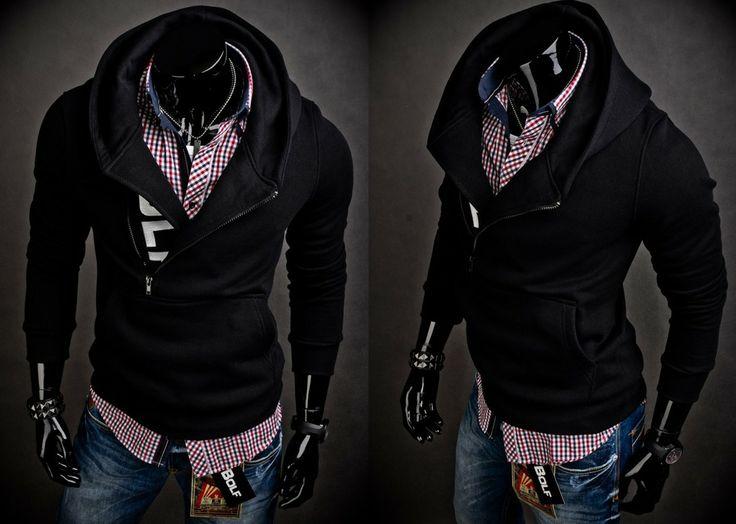 BOLF 01 - CZARNY | Odzież Dla Niego \ Bluzy męskie \ Bluzy z kapturem Kolekcja Męska | Denley - Odzieżowy Sklep internetowy | Odzież | Ubrania | Płaszcze | Kurtki