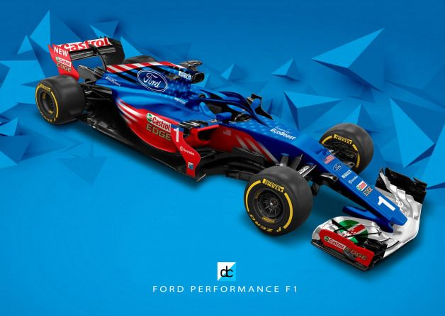 Ford Performance F1 Concept Livery Latebraking On Behance