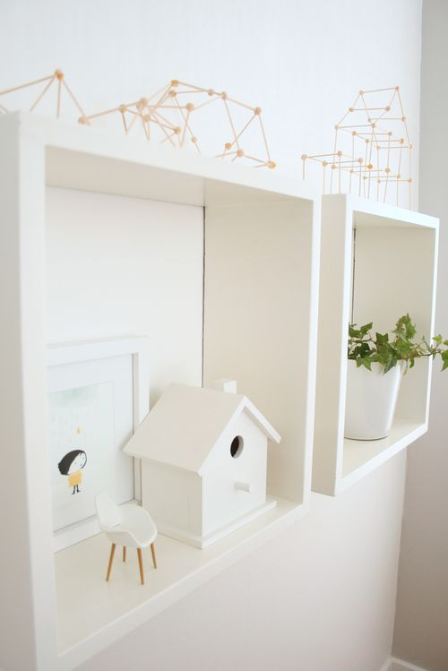 These shelves-simple and go with many kinds of interiors