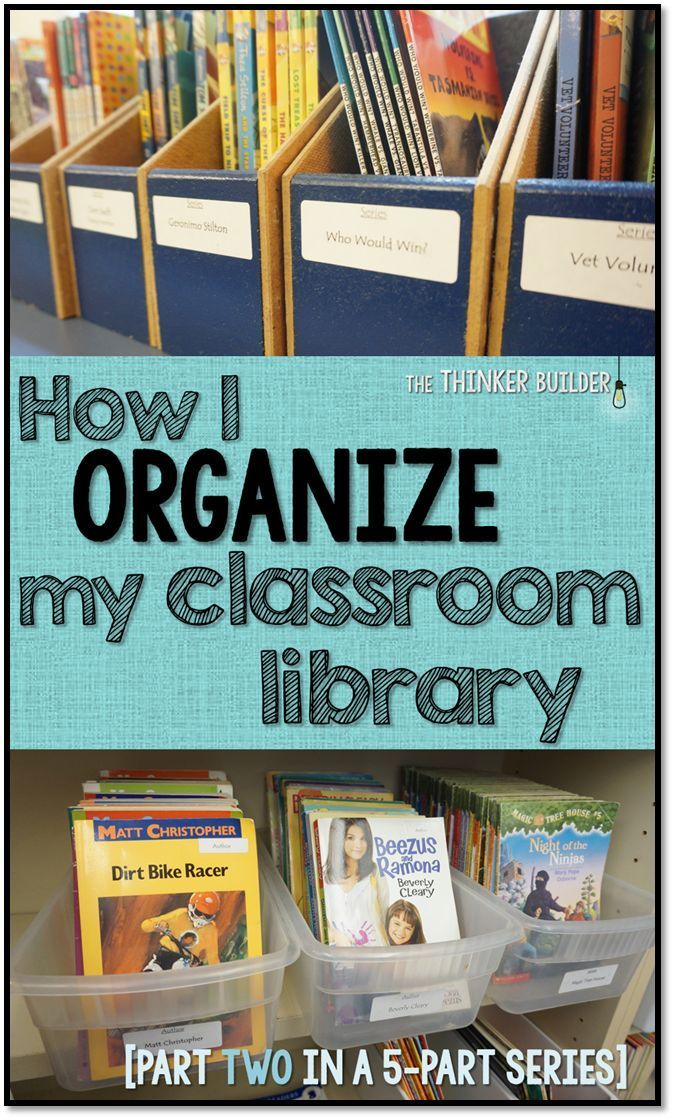 How I ORGANIZE My Classroom Library [Part Two in the Classroom Library Series] from The Thinker Builder