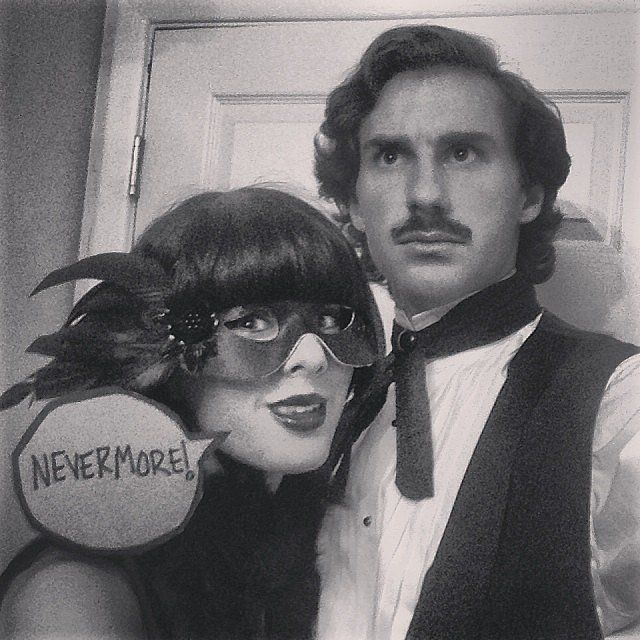 """""""Poe and the Raven"""" Literary Halloween Costumes 