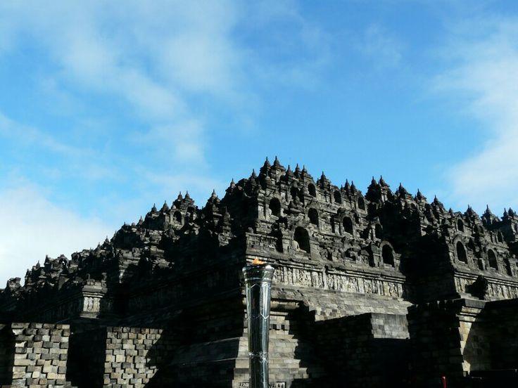 Blue sky above Borobudur