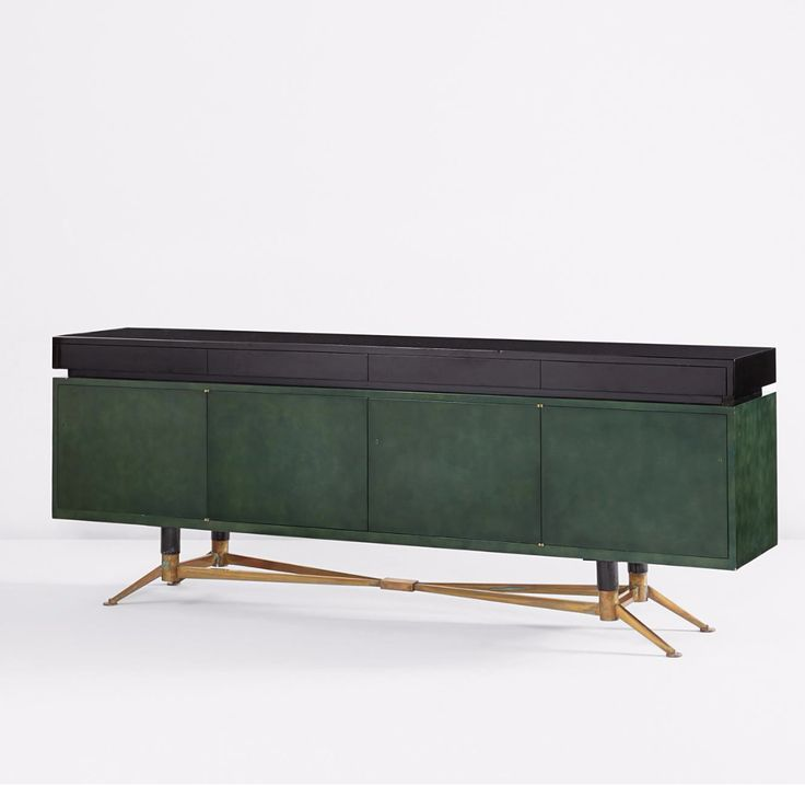 Anonymous; Lacquered Wood, Bronze and Steel Sideboard by Raphael, c1954.