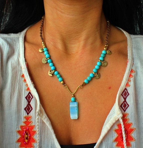 Check out this item in my Etsy shop https://www.etsy.com/dk-en/listing/493127365/turquoise-necklace-gemstones-necklace