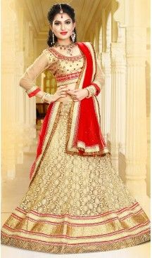 Beige Color Net Circular Style Party Ghagra Choli | FH495875968 #heenastyle, #designer, #lehengas, #choli, #collection, #women, #online, #wedding , #Bollywood, #stylish, #indian, #party, #ghagra, #casual, #sangeet, #mehendi, #navratri, #fashion, #boutique, #mode, #henna, #wedding, #fashion-week, #ceremony, #receptions, #ring , #dupatta , #chunni , @heenastyle , #Circular , #engagement