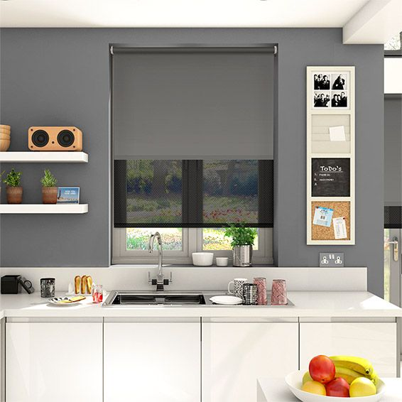 Trend Double Roller Rich Grey Blind