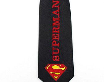 Logo de super-héros Superman cravate pour homme d'écriture liens femmes cravate justice league geek mariage garçons d'honneur