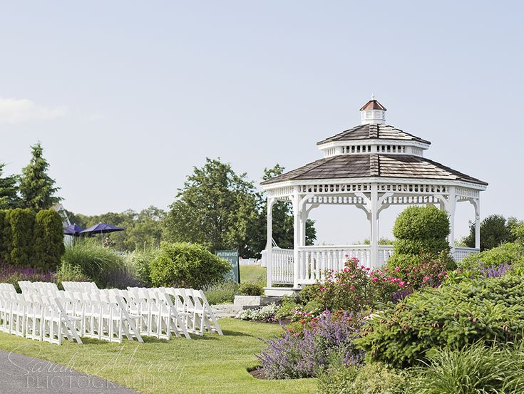 Outdoor ceremony at white cliffs country club wedding in for Outdoor wedding venues ma