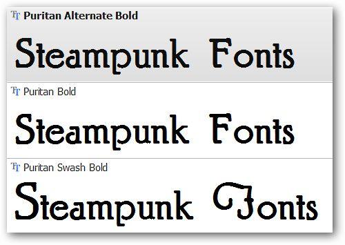 Steampunk Typeface Puritan