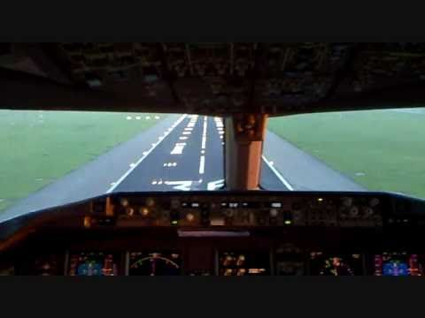 KLM Boeing 777 Cockpit landing @ Schiphol AMS Airport (36R) Must See!! - YouTube
