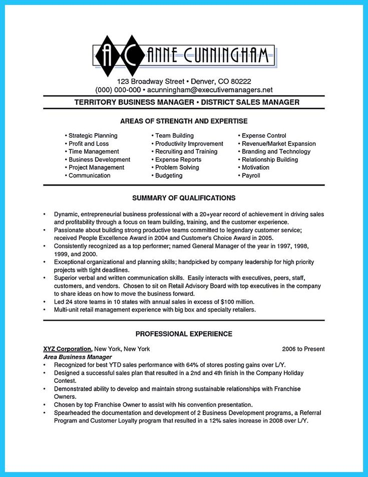 11 best RESUME images on Pinterest Job resume, Resume ideas and - business manager resume example