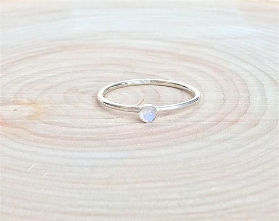SALE Rainbow Moonstone Ring. Sterling by CarruthersJewelry