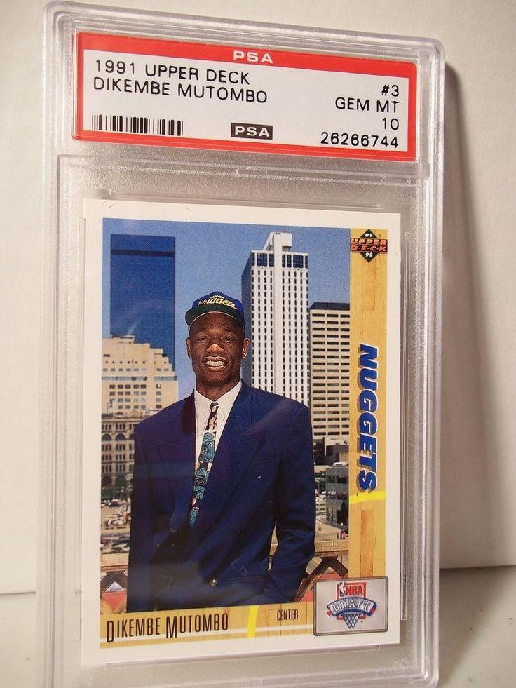 1991 Upper Deck Dikembe Mutombo Rookie PSA Gem Mint 10 Basketball Card #3 NBA  #DenverNuggets