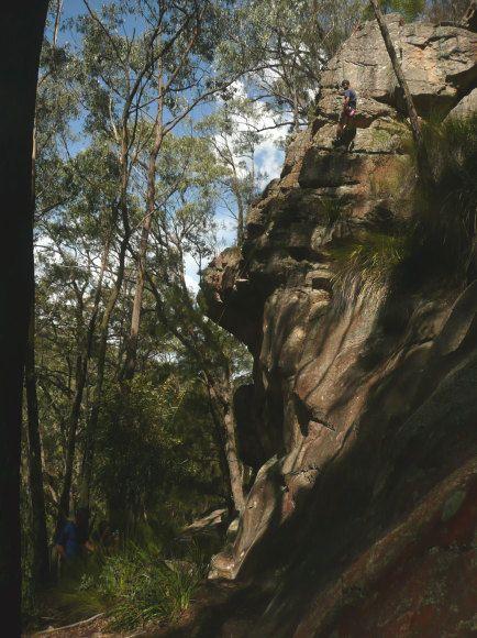 Climb a rock.