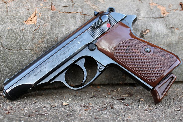 Walther PP made by Manufacture d'Armes de tir Chapuis sometime in the 1950s. Chambered in 7.65mm (.32 ACP)    Rumor has it that Manurhin made most if not all the components of Walther PPs (PP and PPK) until 1986. Dare I say the entire gun was made in France. Walther PPs they say they were made in Ulm Germany had final assembly and QA checks done in Germany although the gun was in fact made 50 miles away by Manurhin.      ...7.65 mil with a delivery like a brick through a plate glass window.