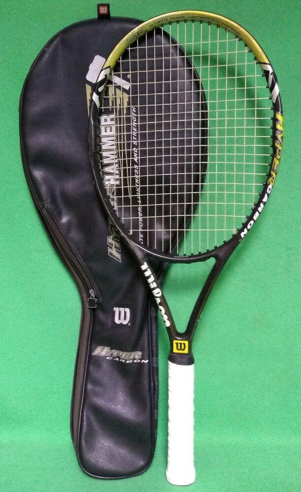 Wilson Hyper Hammer 6 3 Hyper Carbon 110 Grip 4 3 8 Tennis Gear Tennis Clothes Racquet Sports