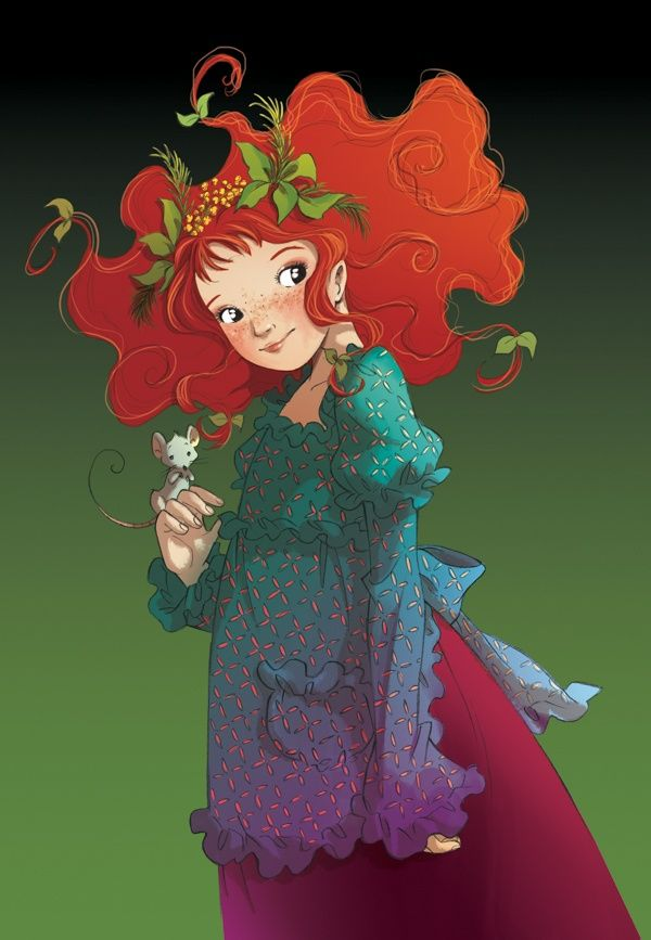 """""""Shirley Poppy, com Mr. Berry no primeiro dia em nossa casa."""" citando Féli, no livro """"Fairy Oak O segredo das gémeas"""", o 1º da série da autoria de Elesabetta Gnone."""