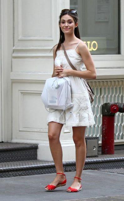 Emmy Rossum - casual street style
