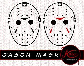 Jason Mask Vector 3 Pack   Hockey Mask Clip Art   Horror ...