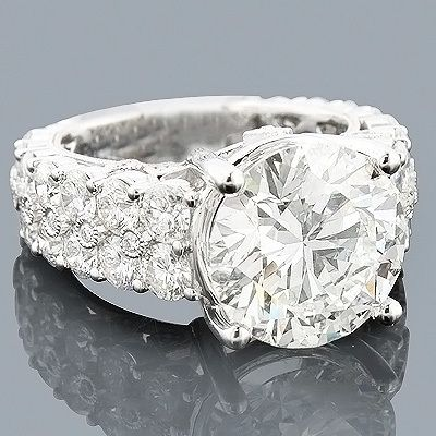Platinum Engagement Rings: Expensive Diamond Ring 8.57
