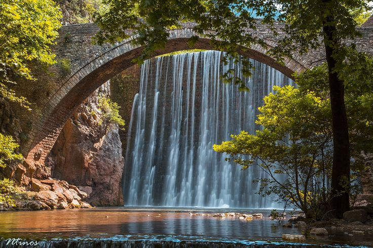 Old stone bridge of Palaiokaria, Greece by ntinoslagos on 500px