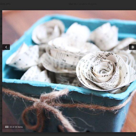 Vintage hymnal paper flowers sheet music flower от Greatfulpraise