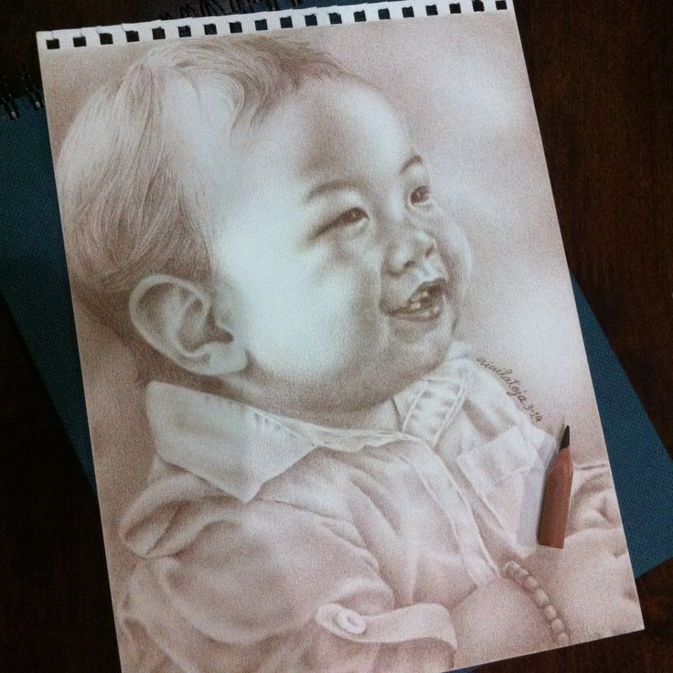Colored pencil portrait, 2014