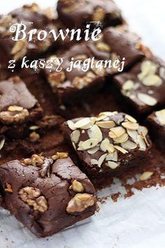 Dietetyczne, bezglutenowe brownie z kaszy jaglanej - millet brownie, perfect snack for diet.