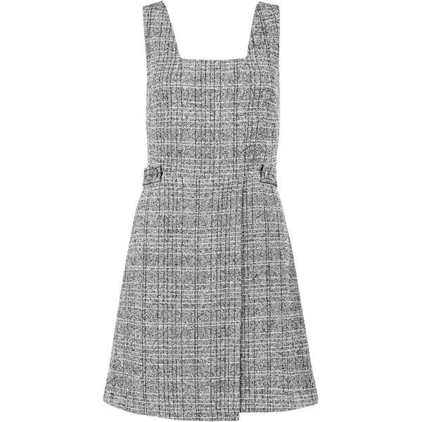 New Look Grey Flecked Pinafore Dress found on Polyvore featuring dresses, grey, grey dress, gray dresses, new look dresses and pinafore dress