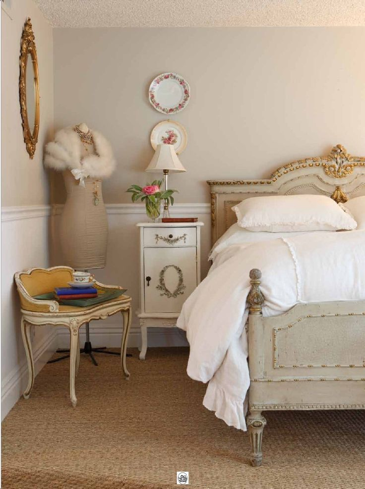 French Inspired Bedroom, Not Overly Done {yay}