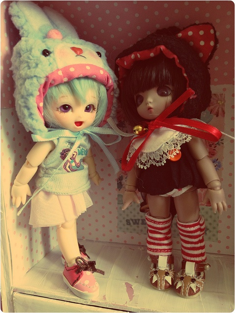 New shoes for puki sisters ! by K6 dolls, via Flickr