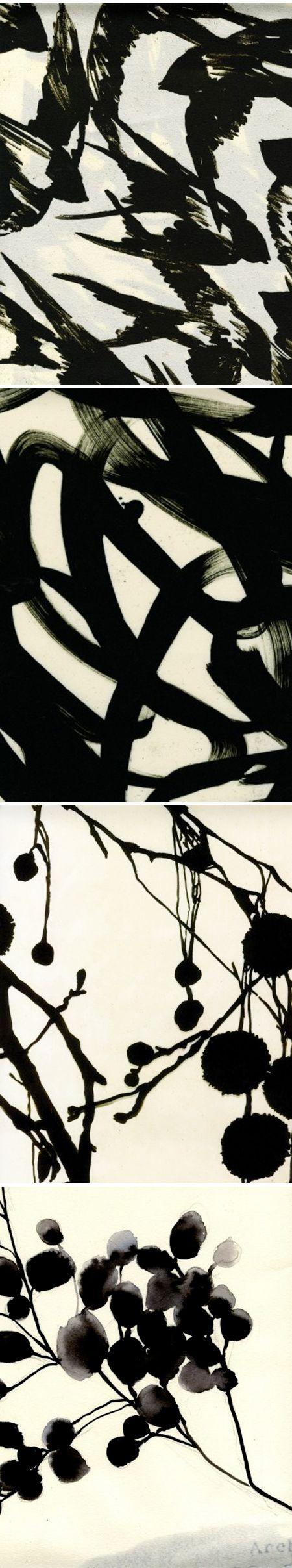 Luli Sanchez - Textile design, (black & white)
