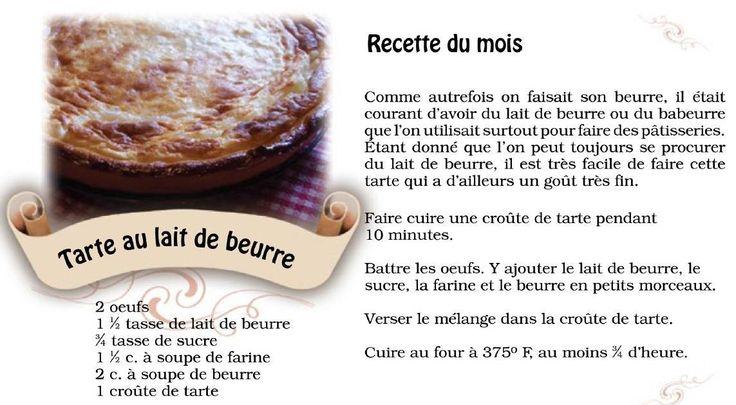 Tarte au lait de beurre, recette acadienne!